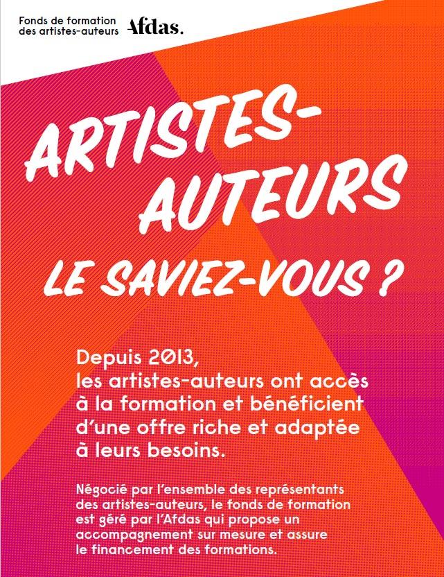 formatio AFDAS artistes auteurs